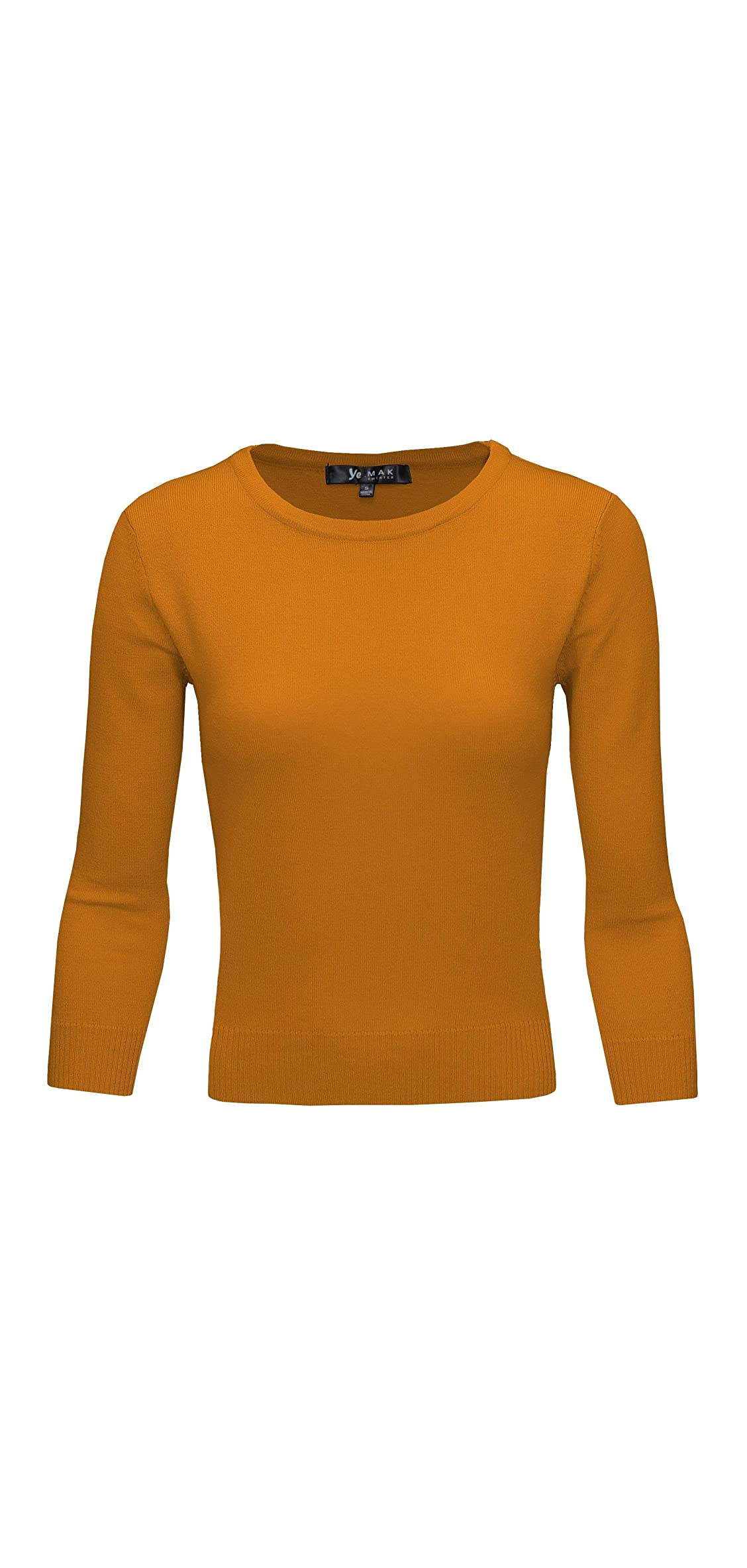 Women's / Sleeve Crewneck Lightweight Basic Casual Knit