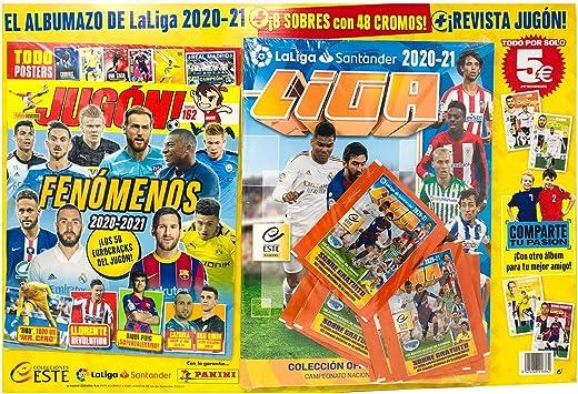 Oferta amazon: Álbum La Liga 2020 - 2021 mas 8 Sobres Liga con 48 cromos y Revista Jugón Numero 162 La Liga Santander 2020-21