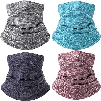 4 peças de polainas de pescoço aquecedoras macias e