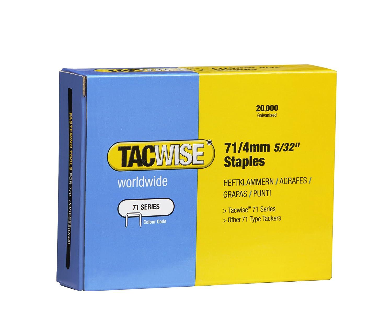 Tacwise 0365 Grapas galvanizadas de tipo 71//4 mm Set de 20000 Piezas
