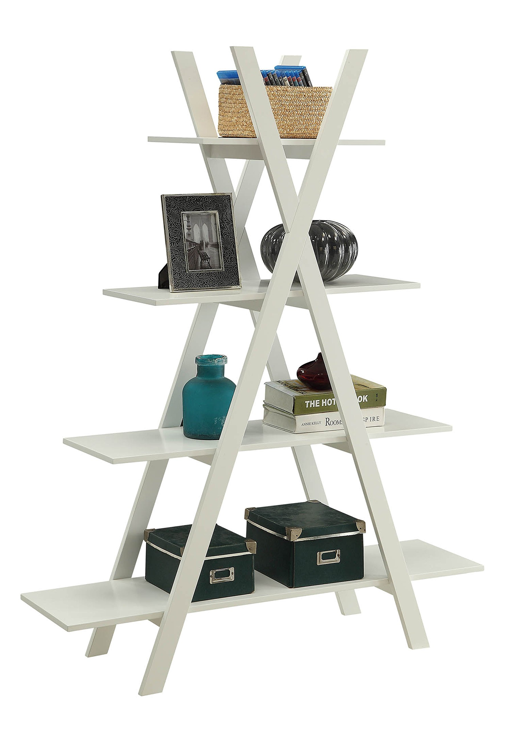 Convenience Concepts Oxford ''A'' Frame Bookshelf, White by Convenience Concepts (Image #2)