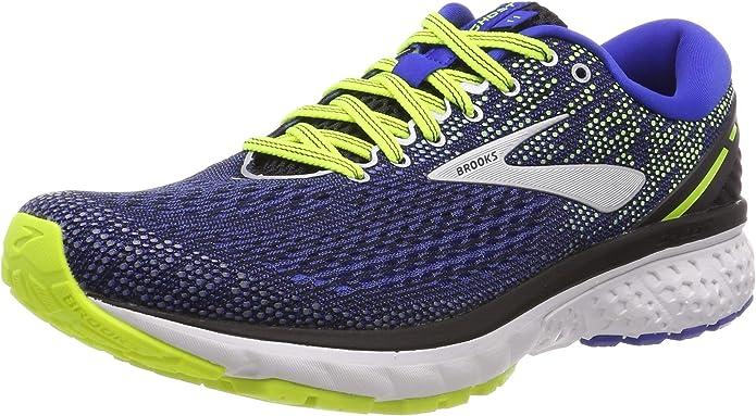 Brooks Ghost 11 Sneakers Laufschuhe Herren Schwarz/Blau/Gelb