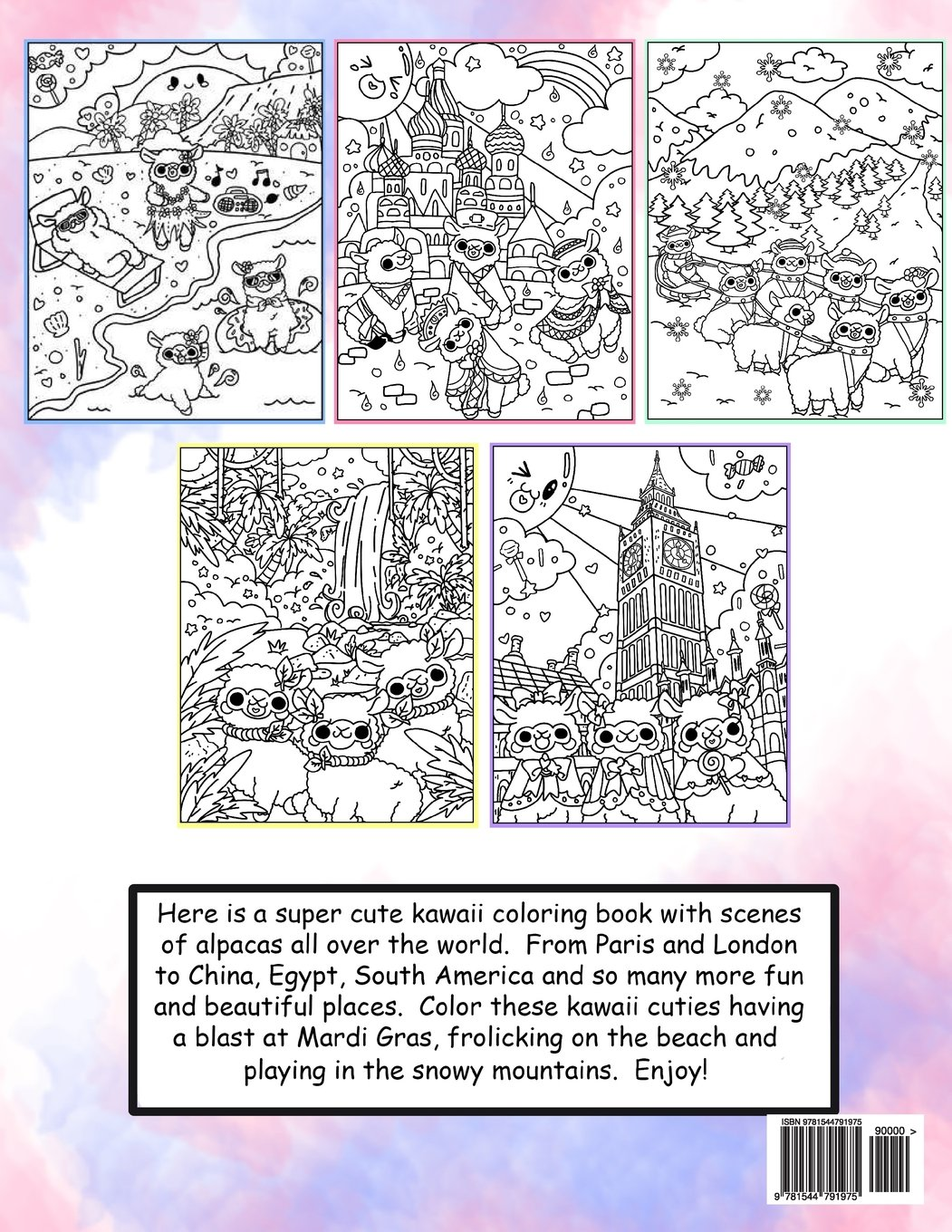 kawaii alpacas all around the world a super cute coloring book for adults kawaii manga and anime coloring books for adults teens and tweens volume - Kawaii Coloring Book