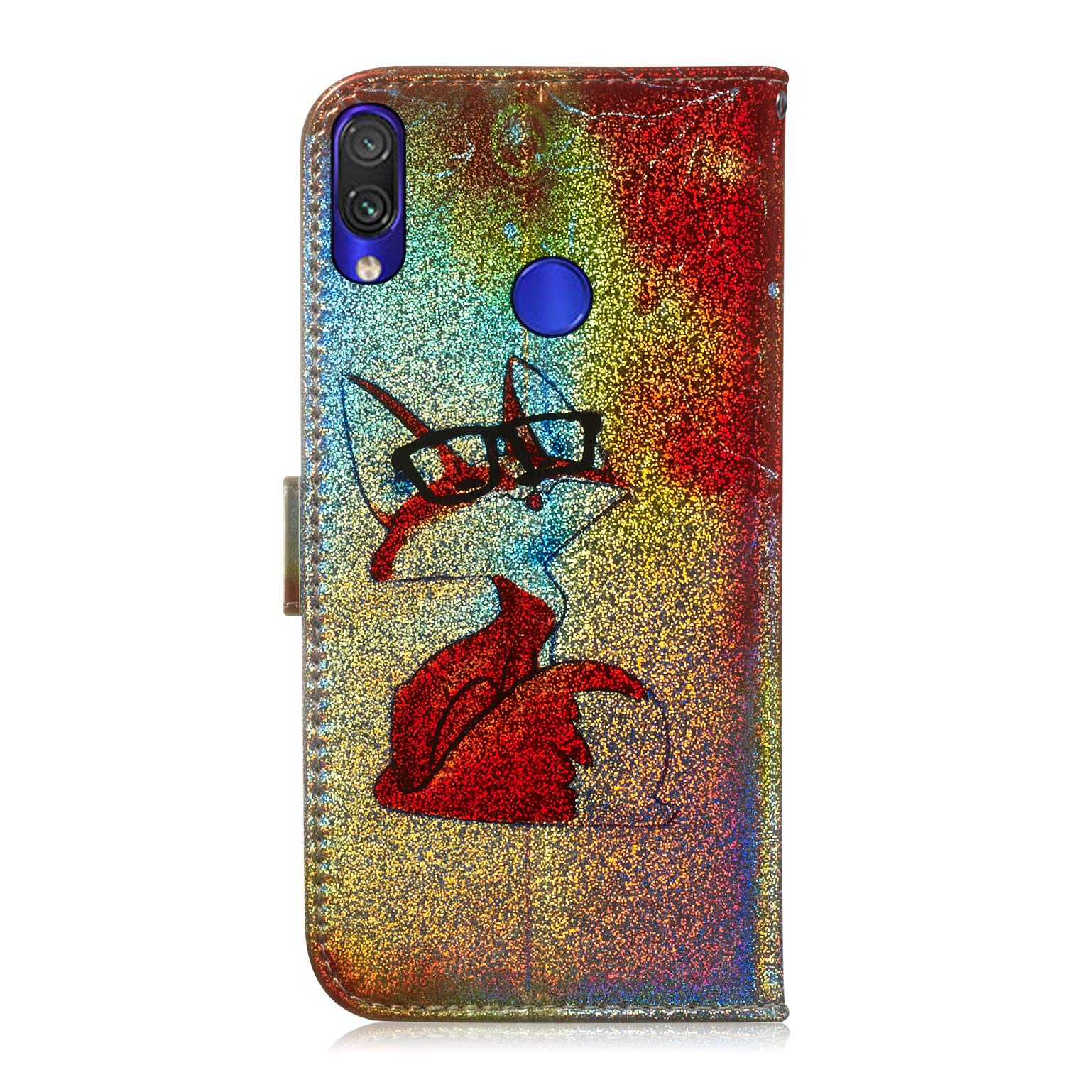 With Tempered Glass Screen Protector Cat Fatcatparadise Case for Xiaomi Mi A3 Bling Glitter Flip Wallet Back Case,Colorful Cute Pattern Design Flip PU Leather Case