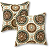 Greendale Home Fashions 17 in. Outdoor Accent Pillow (set of 2), Spray