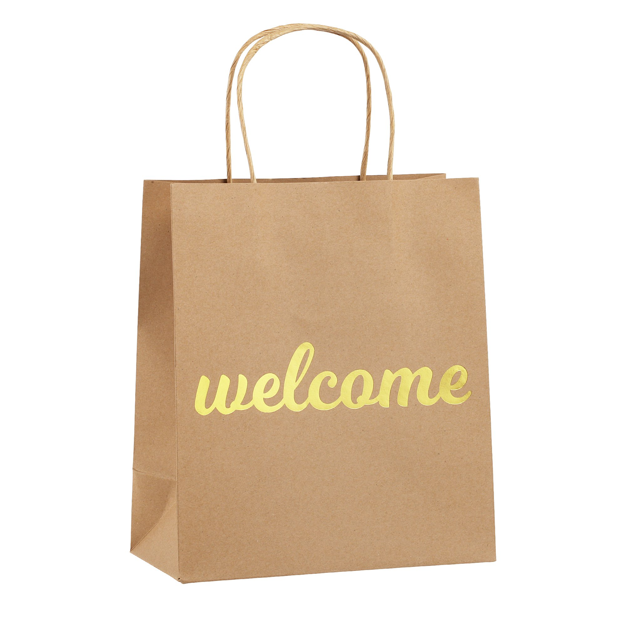 Welcome Bags for Wedding Guests - High Quality Kraft Paper Bags Bulk Perfect as Wedding Welcome Bags for Hotel Guests - Excellent to Present Wedding Favors for Guests (25-Pack)