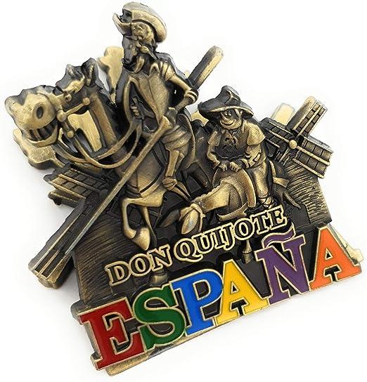 MovilCom® - iman Nevera| Figuras magneticas | imanes Nevera Personalizados de España Don Quijote | diseño Exclusivo Recuerdo de España (Mod.007): Amazon.es: Hogar