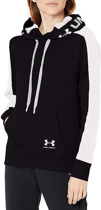 Under Armour Rival Fleece Hoodie Ladies OTH Hoody Hooded Top Full Length Sleeve