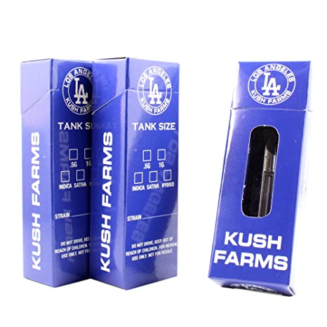 Los Angeles Farms Empty Flip Top Packaging Boxes by Shatter Labels VB-044  (25)