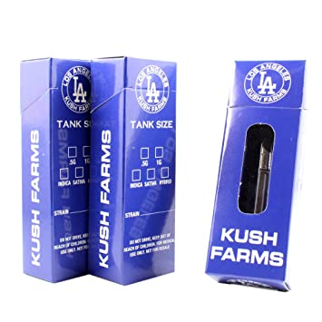 Los Angeles Farms Empty Flip Top Packaging Boxes by Shatter Labels VB-044 (25