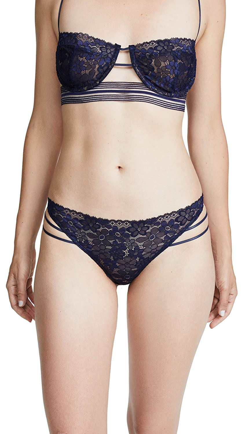 For Love & Lemons Women's Mia Lace Strappy Thong