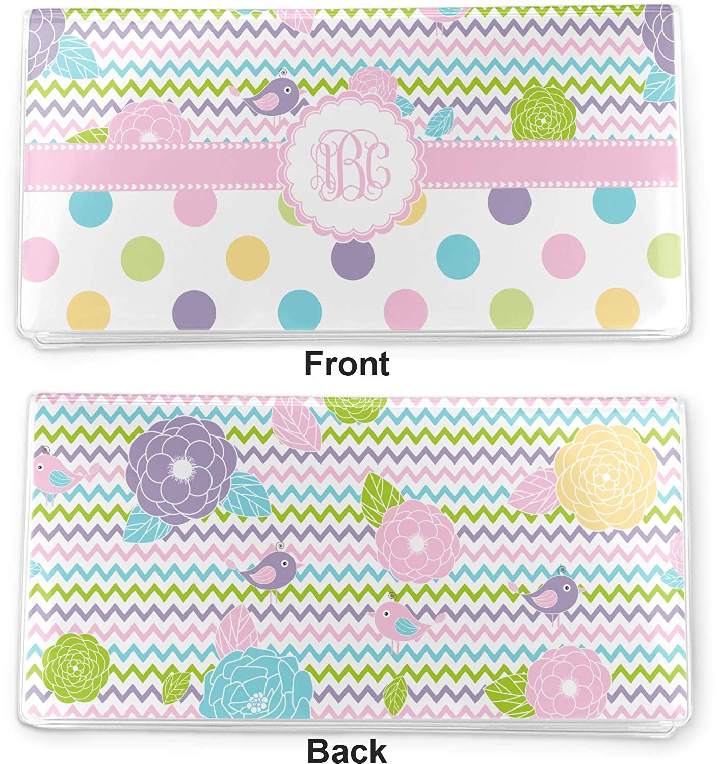 Personalized Girly Girl Vinyl Checkbook Cover