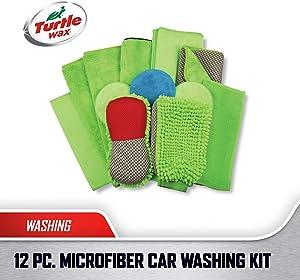 Turtle Wax Platinum Microfiber Wash & Wax Kit for Cars and Trucks