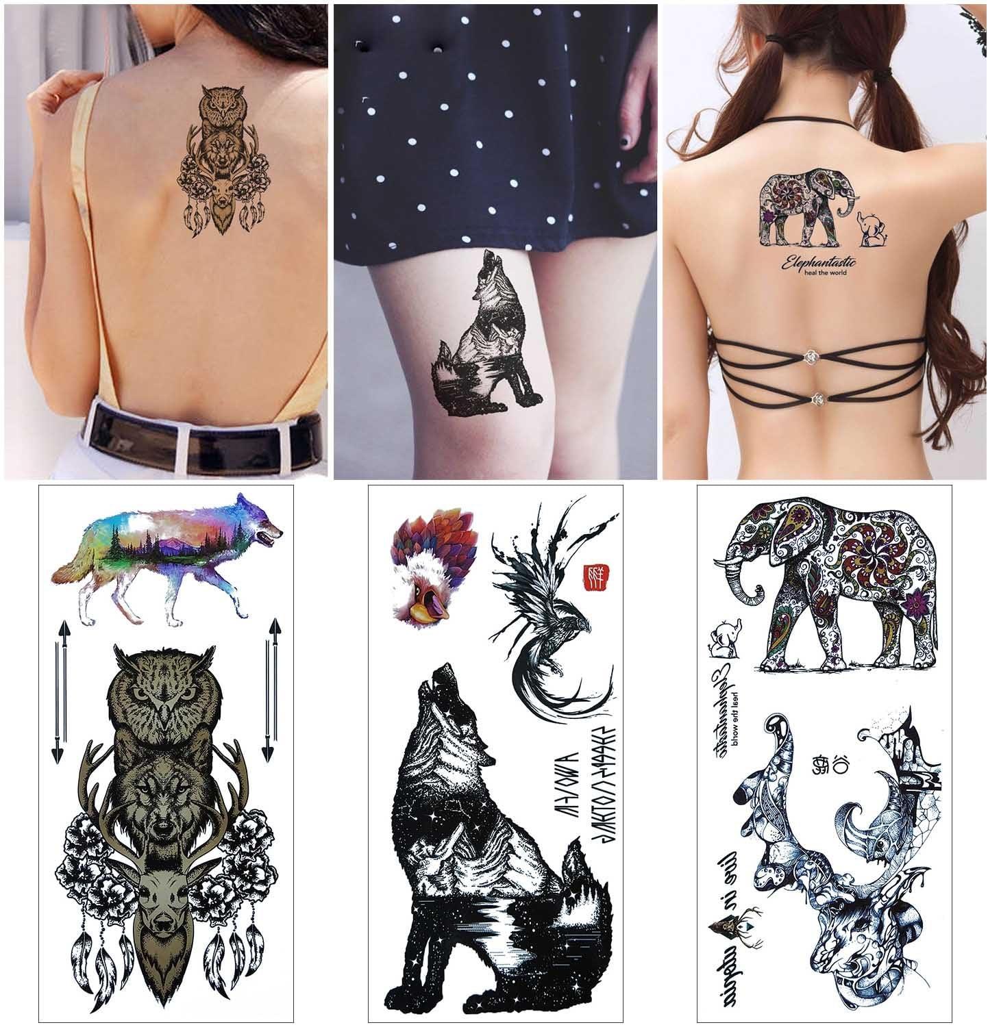 COKOHAPPY Raptor Destello Tatuaje - 27+ Diferente Designs - Falso ...