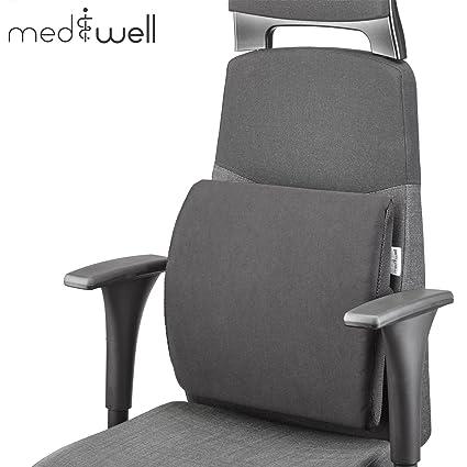 MEDIWELL Cojín lumbar ortopédico para silla de oficina | Cojín ...