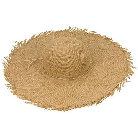 Lierys Raffia Straw XXL Brim Floppy Hat Beach (One Size - Nature)   Amazon.co.uk  Clothing a553689de289