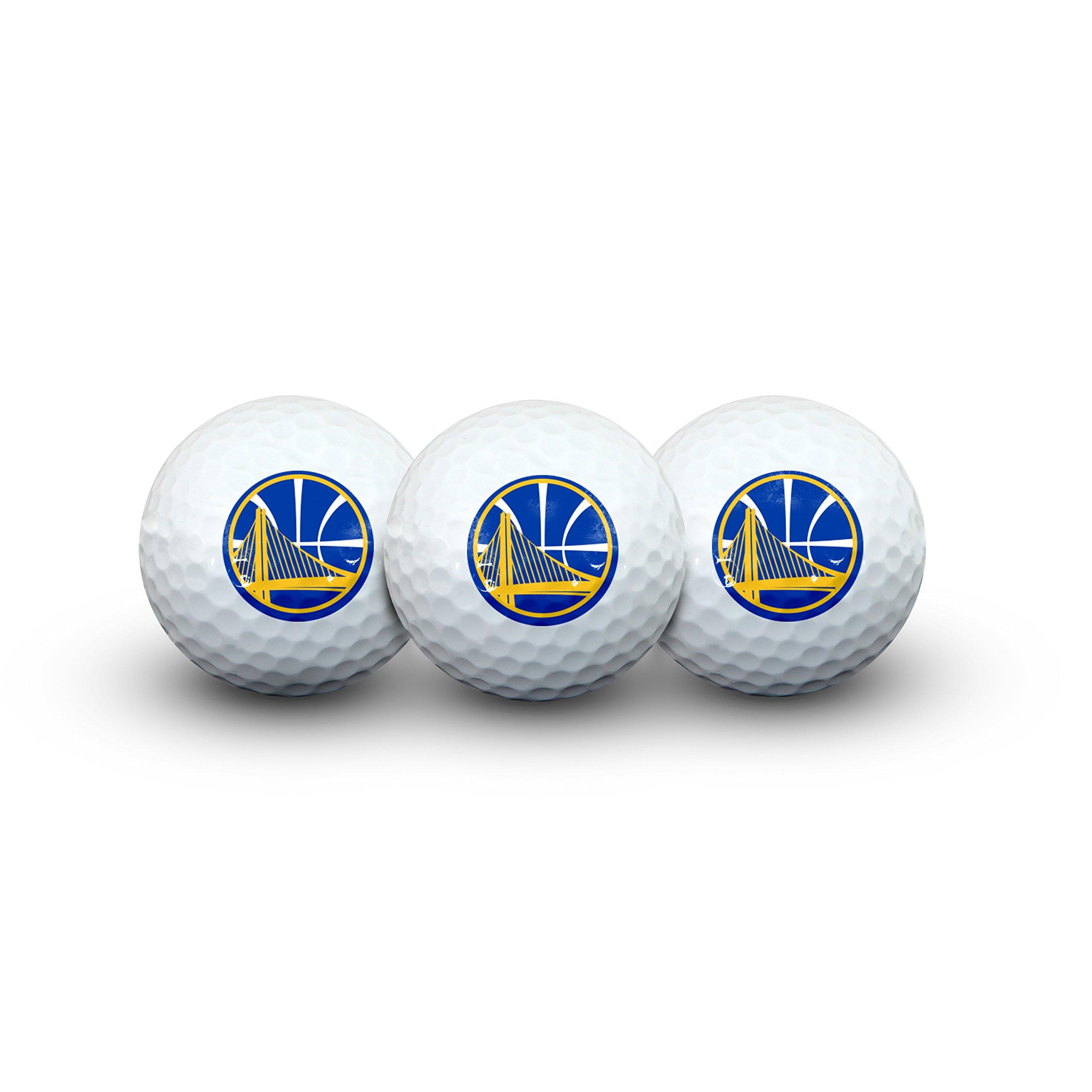 Team Effort NBA Golden State Warriors Golf Ball Pack of 3Golf Ball Pack of 3, NA