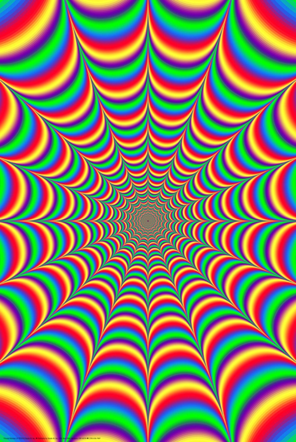 illusion trippy fractal poster posters moving optical 24x36 multicolor mint fantasy amazon