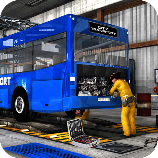 Metro Bus Mechanic Simulator 2019: Auto Repair Workshop & Car Garage Games - Cars Driving Auto