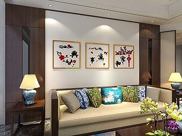 AuBergewohnlich Acryl Und Das Triptychon 3D Acryl Dreidimensionale Wandaufklebern Wohnzimmer  Schlafzimmer TV Hintergrund Wand Dekoration Malerei,