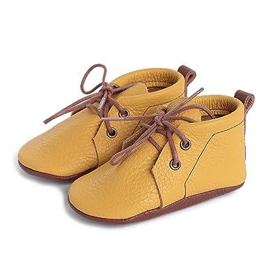 Amazon.com: LittleBeMocs Botas Amarillas Mocasines de Bebé ...