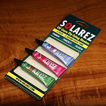 Solarez UV Cure Fly Tie Resin - 3 Pack (Thin, Thick, Hard)