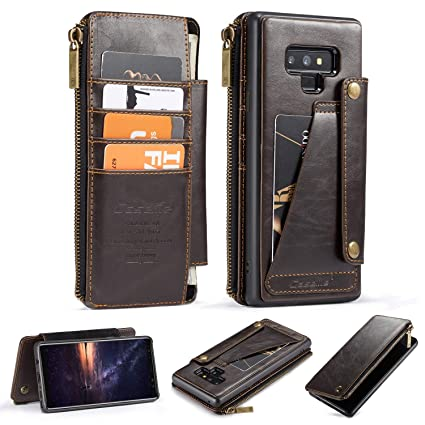 free shipping 26aff ba00e Galaxy Note 9 Leather Wallet Case,AKHVRS Leather Phone Wallet Case Cover  and Credit Card Flip Case Protective & Card Slots [Detachable Slim Case]  for ...