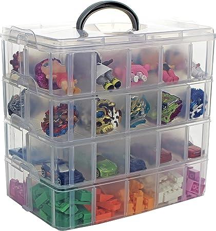 Bins Things Boite De Rangement Empilable Pour Jouets 40 Compartiments Reglables Compatible Avec Lego Speed Lol Surprise Beyblade Lps Hot Wheels Et Arts Crafts Amazon Fr Bricolage