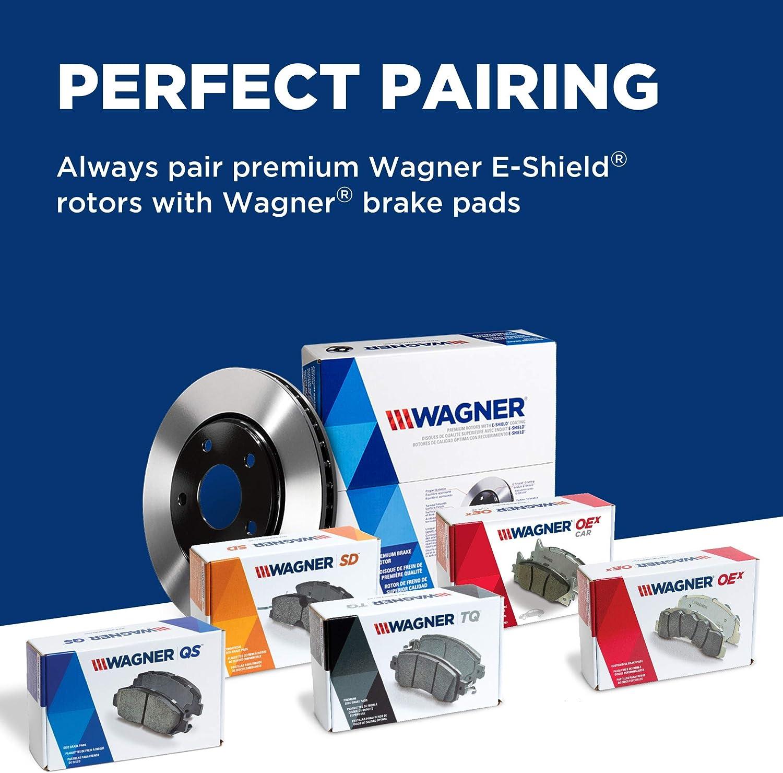 Wagner BD126253E Premium E-Coated Brake Rotor
