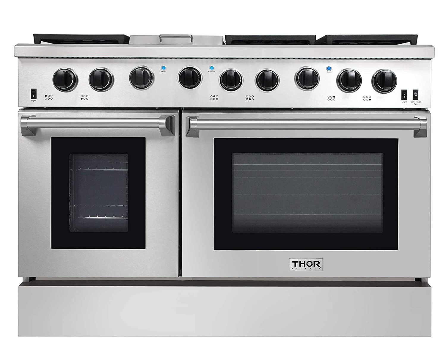 Thor Kitchen 48 Pro- Style Range, Natural Gas or Propane Gas Stainless Steel