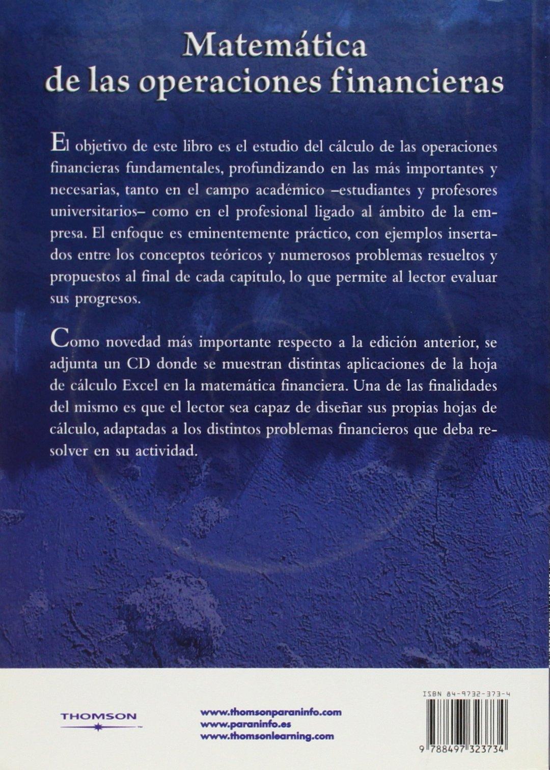 Matemática de las operaciones financieras: Amazon.es: MARIA BONILLA ...