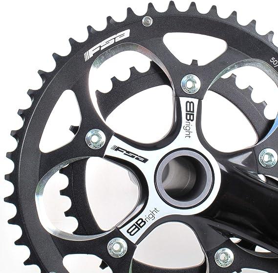 FSA BBright Aluminum Road//Triathlon Bike Crankset 50//34 10 Speed 170mm //// Black