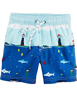 88d8f4bc1784b Amazon.com: Carter's Little Boys' Swim Trunks: Clothing