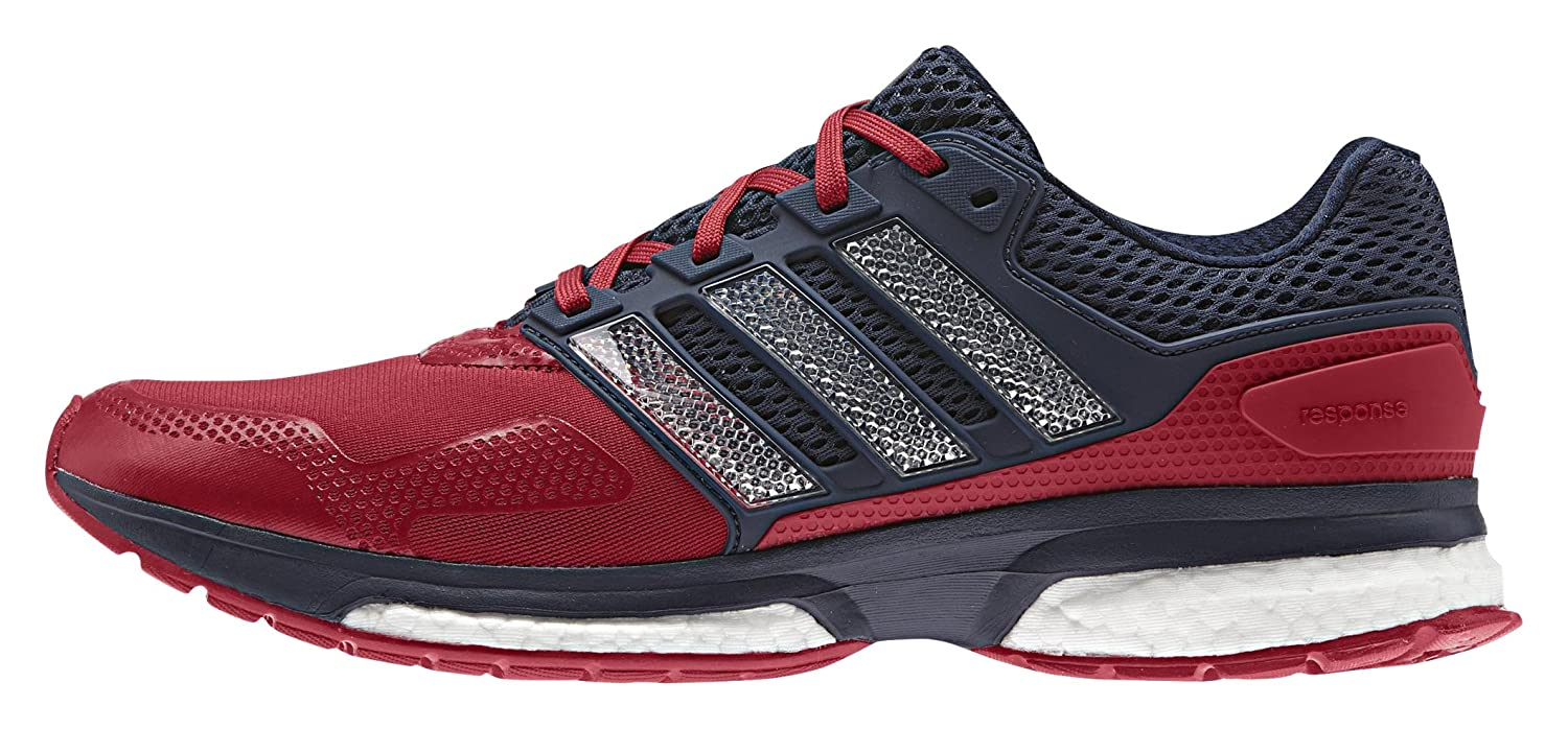 super popular 2265a 9b325 Amazon.com   adidas Response 2 Techfit Mens Running Shoe - Red Dark Blue    Shoes