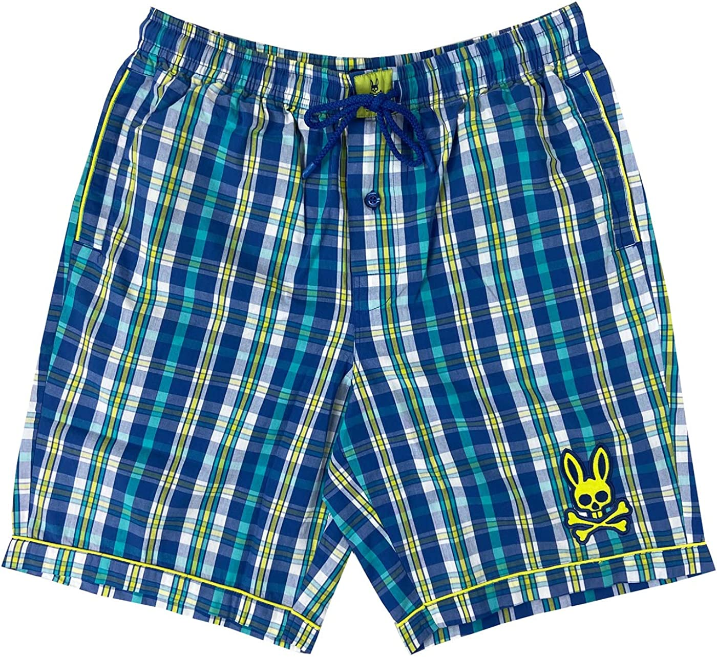 Psycho Bunny Men's Printed Lounge Woven Jam Shorts with Pockets