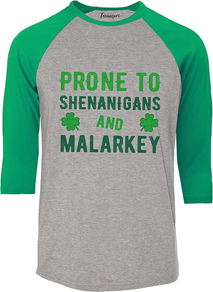 Prone To Shenanigans St Patricks Day Love Party Parade Festival Mens LS Tee