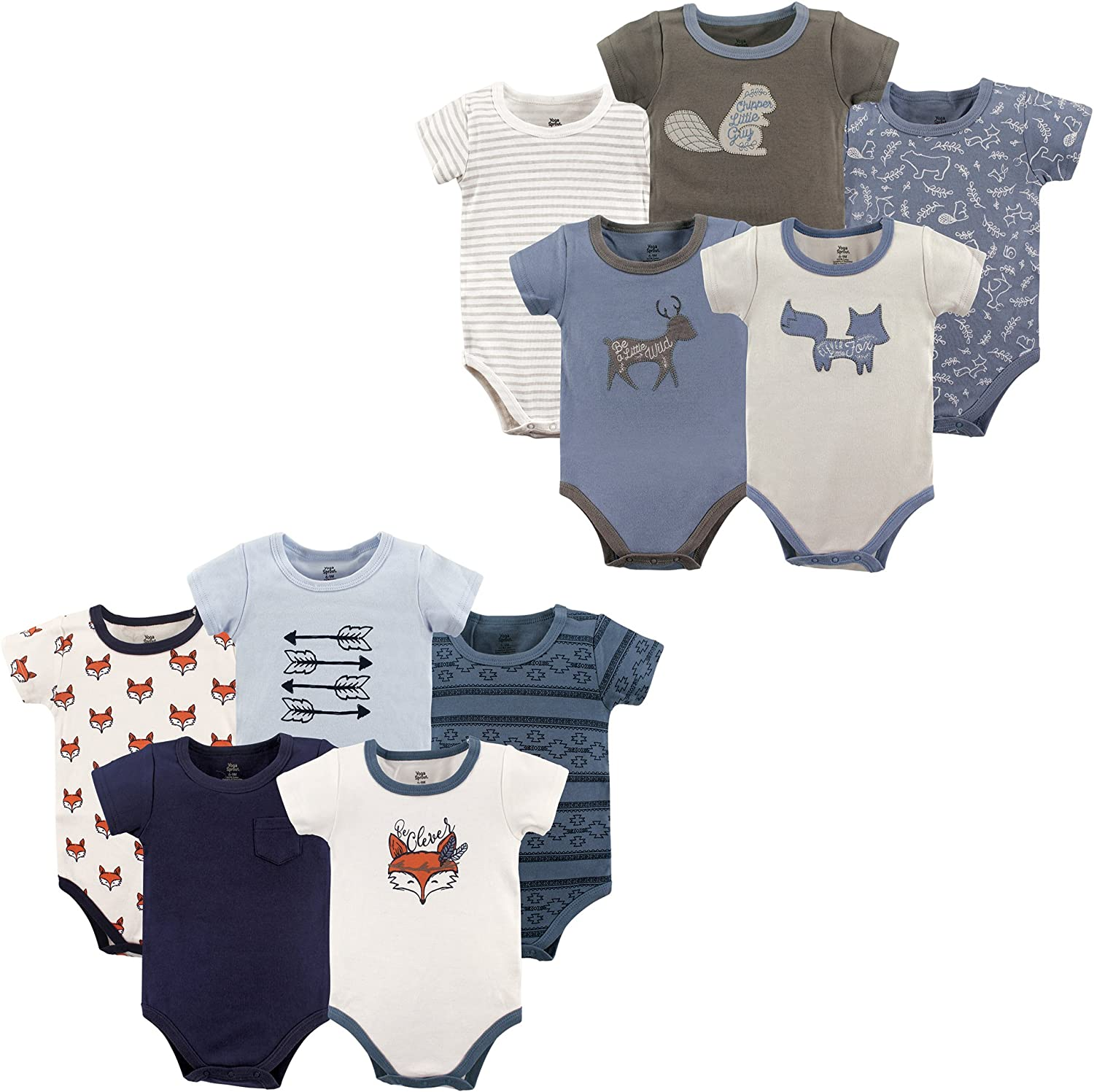 Yoga Sprout Unisex Baby Cotton Bodysuits