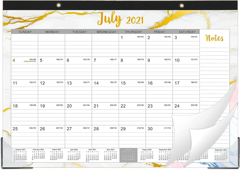 2022 Desktop Calendar.Amazon Com 2021 2022 Desk Calendar Desk Calendar 2021 2022 Desk Wall Monthly Calendar Pad 17 X 12 July 2021 December 2022 Ruled Blocks Colorful Marble Office Products