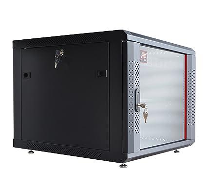 9U Wall Mount Network Equipment Server Data Cabinet Enclosure Rack Door