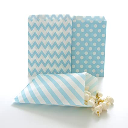 Blue Candy Bags Birthday Goody Bag Ideas Winter Frozen Snowflake Gift Favor
