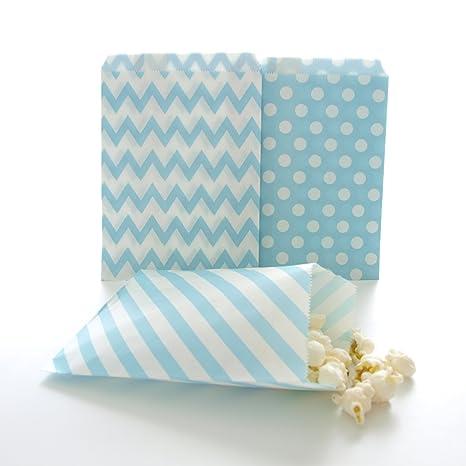 Amazon.com: Azul Candy Bolsas, bolsa de material para ...