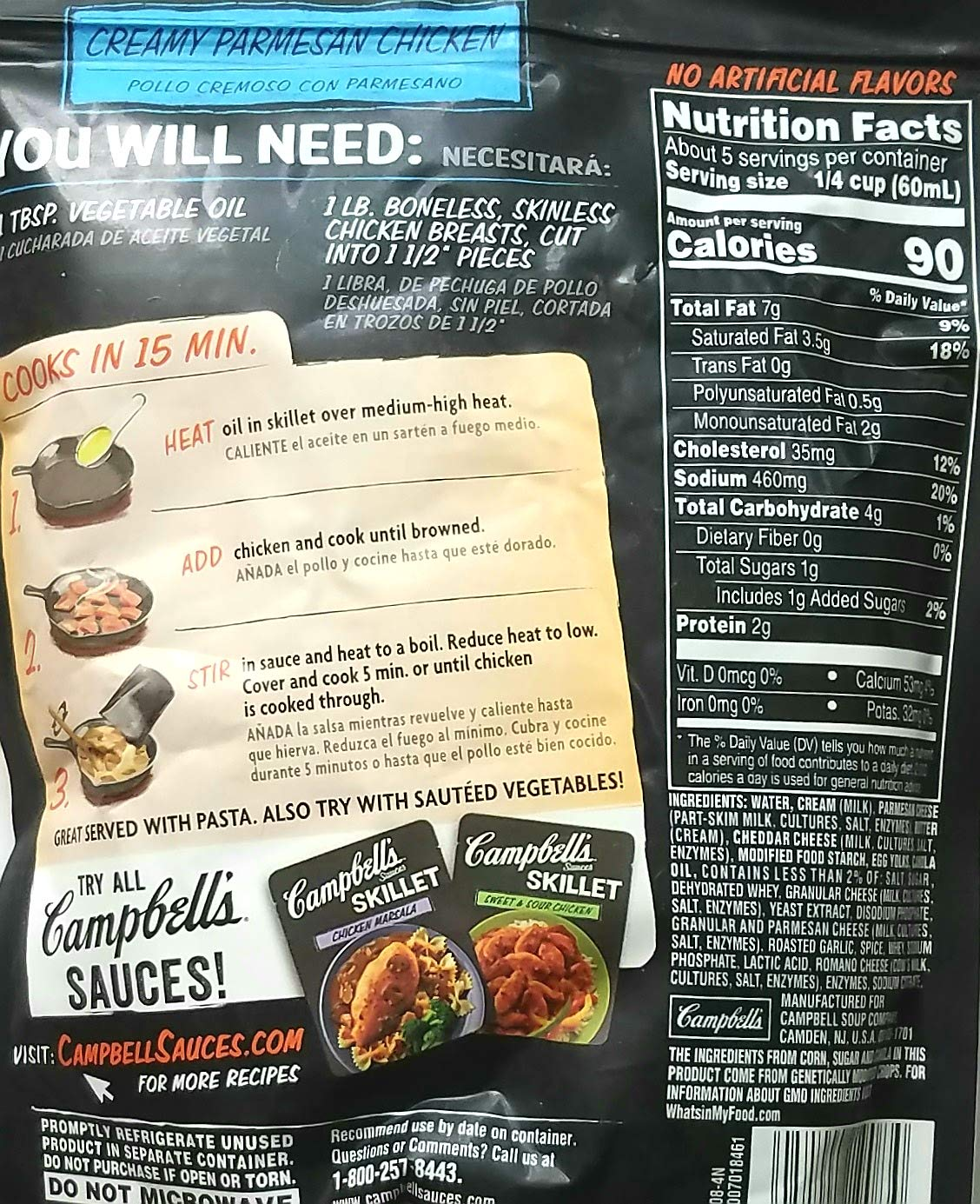 Amazon.com : Variety Pack Bundle of 8 Campbells Skillet Sauces - Just Add Chicken, Pork, or Shrimp : Grocery & Gourmet Food