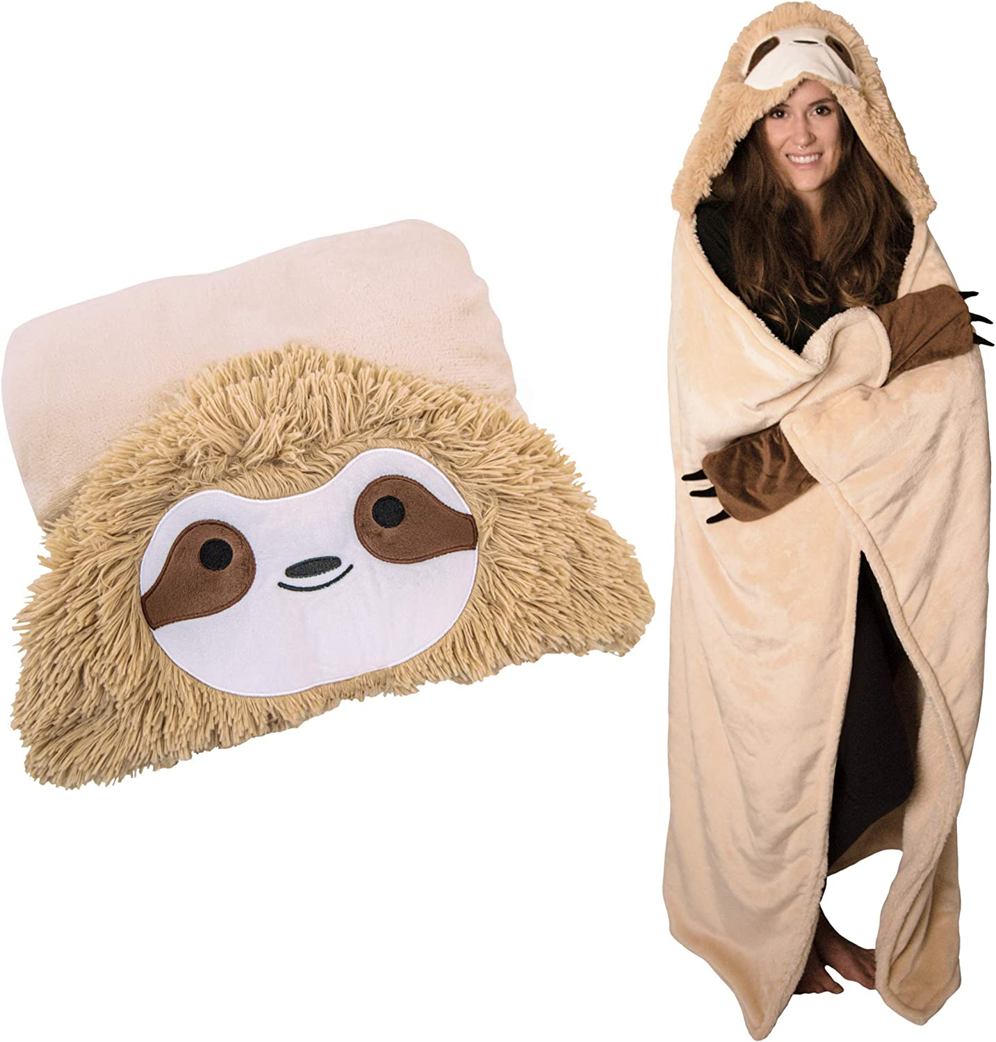 Original Authentic Slothy Sloth Wearable Hooded Blanket