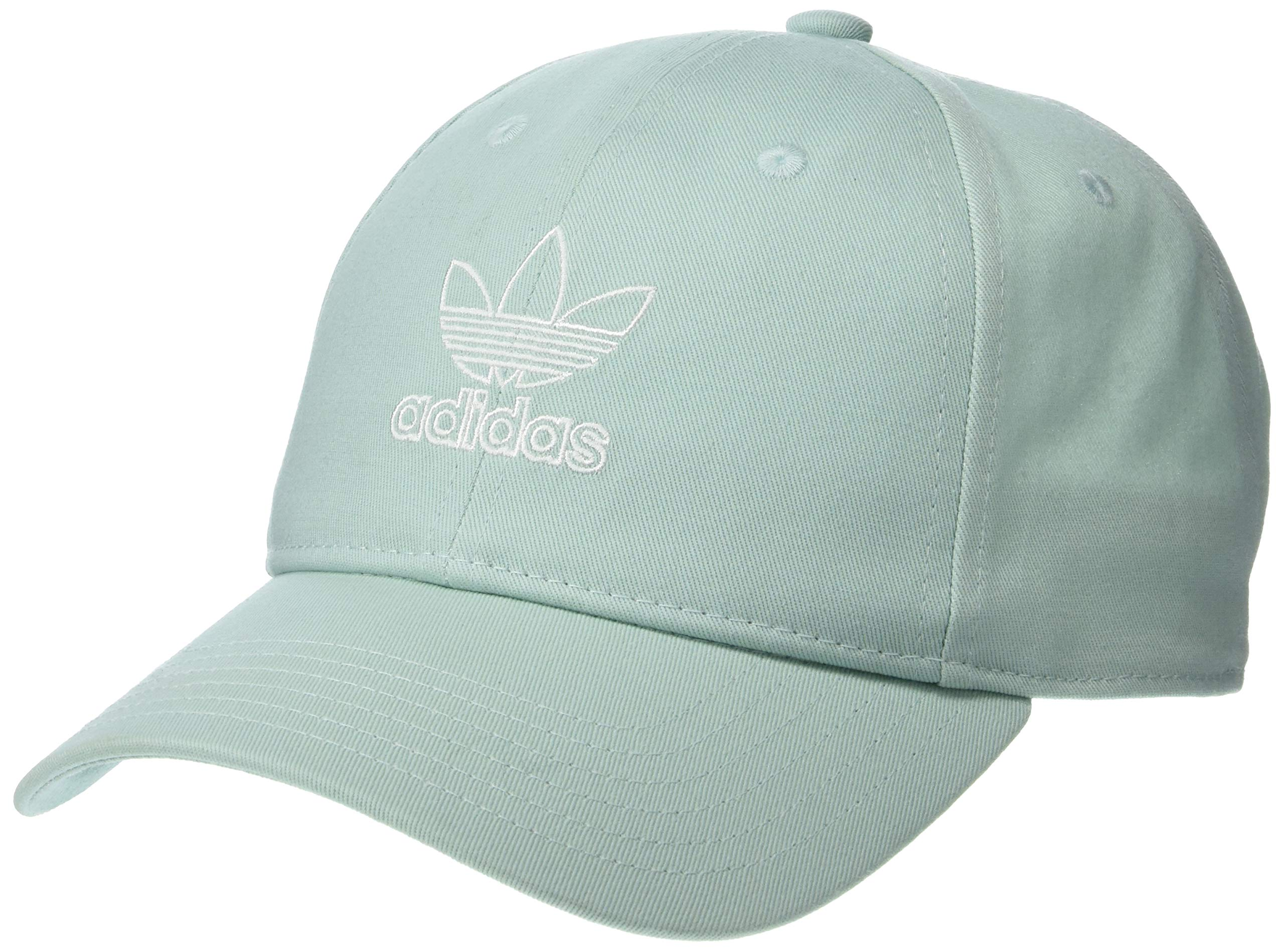 adidas Women's Originals Outline Logo Relaxed Adjustable Cap, Ash Green/White, One Size by adidas (Image #1)
