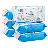 Amazon Brand - Mama Bear 99% Water Baby Wipes, Hypoallergenic, Fragrance Free,72 Count (Pack of 6)
