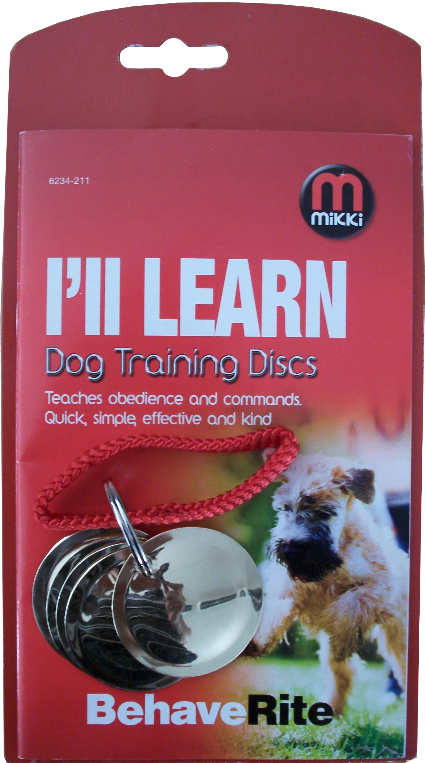 Mikki Dog Puppy Training Discs for Obedience, Commands, Recall, Agility, Includes Training Guide