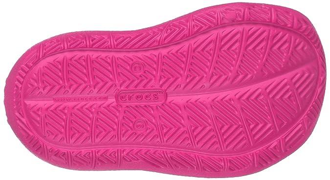 Crocs 204021, Zapatos de Cordones Oxford Unisex Niños, Rosa (Neon Magenta), 28/29 EU