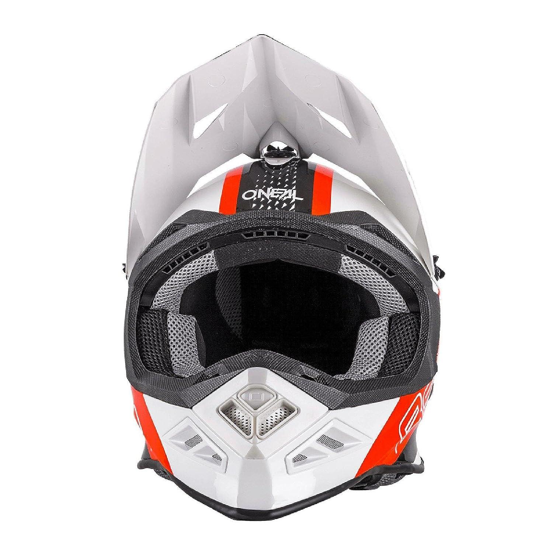 0614-63 ONeal 8Series MX Helm Nano Rot Schwarz Wei/ß Motocross Enduro Offroad Quad Cross