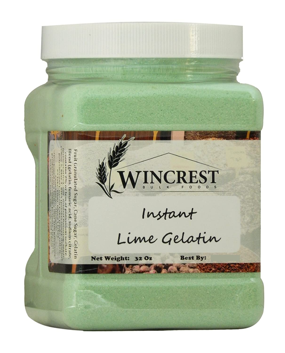 Lime Gelatin - 2 Lb Container
