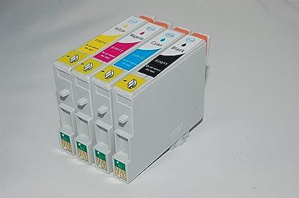 Pack de 4 cartuchos de tinta T061 Compatible para Epson Stylus D68 ...